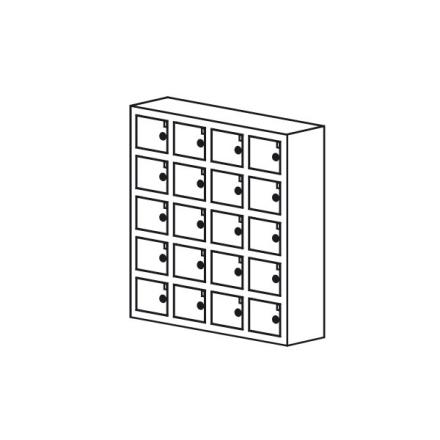 Opbevaringsboks til mobil/værdier 20 rum