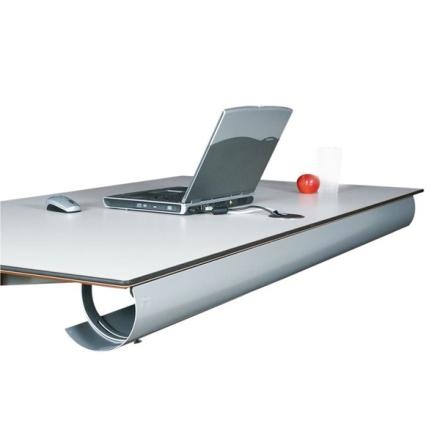 Kabeldike Halfpipe Bord Silvergrå