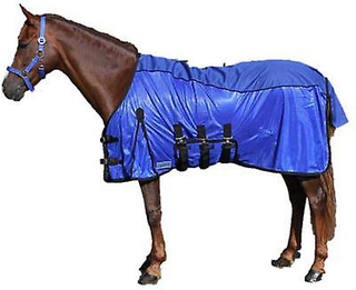 QHP anti-Fly Combo teppe blå (hester, ridning utstyr, sengen dekker...