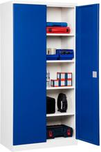 Plåtskåp ASHV 1980x980x570mm Blå dörrar