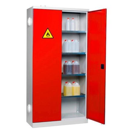 Kemikalieskåp 1990x1000x435mm Röd dörr
