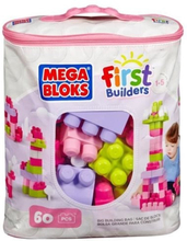 MEGABLOKS First Builders - Medium Pink Bag - 60 block