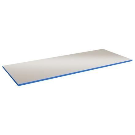 Bordsskiva Lätt 24 2000x800 Grå HPL Blå ABS kant