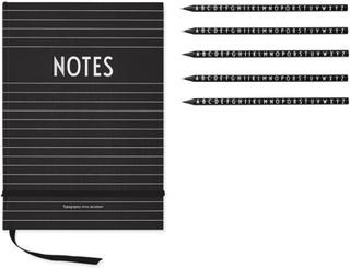 Design LettersPaket Design Letters Anteckningsbok + Pennor