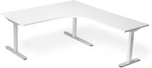 Höj och sänkbart skrivbord ProfiS 52H 1800 x 1800 mm - Vitlaminat, 3-ben elektriskt Vit