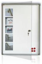 Anslagsskåp Whiteboard 370x510x50mm