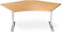 Höj och sänkbart skrivbord ProfiS 55 1750 x 800 mm i boklaminat , 2-ben elektriskt Svart