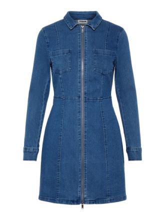 NOISY MAY Stretchy Denim Dress Women Blue