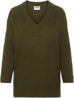 NOISY MAY 3/4 Ermet Strikket Bluse Women Green