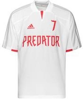 adidas Trenings T-Skjorte Predator DB Icon - Hvit/Grå/Rød LIMITED EDITION