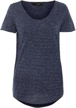 VERO MODA Raidallinen Väljä T-paita Women Blue