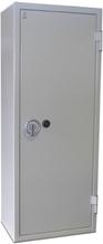 Säkerhetsskåp ljusgrå med nyckellås 1900x750x480 mm