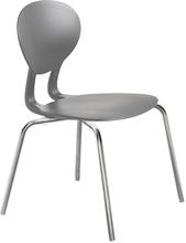 Rocka stol med 4 ben grå/gråmetallic sitthöjd 440 mm