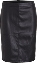 VILA Faux Leather - Mini Skirt Women Black