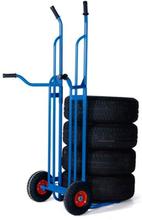 Däckvagn med luftgummihjul 200kg 1665x610mm