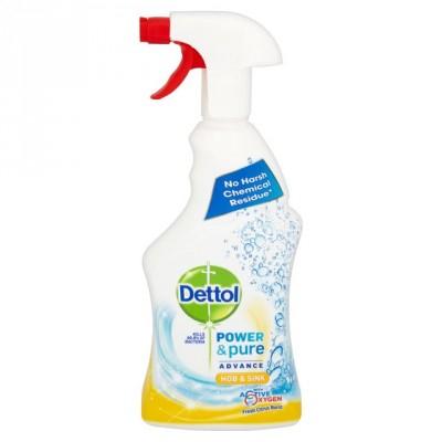 Dettol Power & Pure Citrus Hob & Sink Cleaner Spray 750 ml