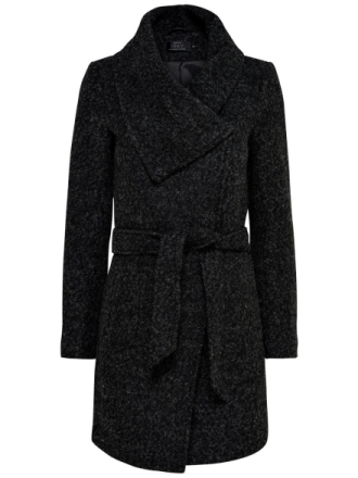 ONLY Boucle Coat Women Black