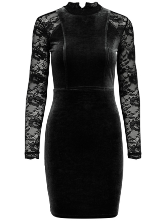 ONLY Lace Long Sleeved Dress Women Black