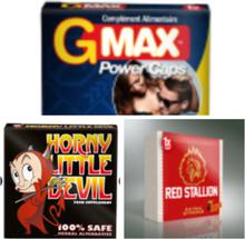 Erektionshjälp Paket3 - Red Stallion + Horny Devil + GMAx