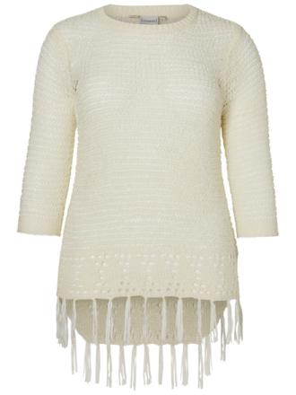 JUNAROSE Knitted Pullover Women White