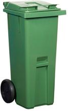 Sopkärl 140 liter grön med rött lock