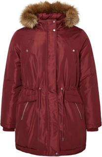 JUNAROSE Long Sleeved Winter Jacket Kvinna Röd