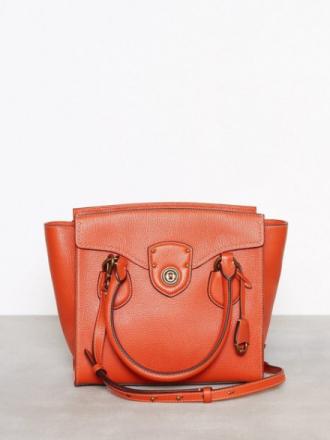 Lauren Ralph Lauren Medium Satchel Orange