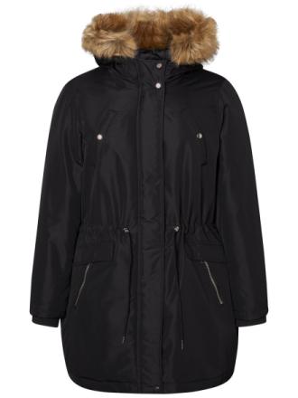 JUNAROSE Long Sleeved Winter Jacket Women Black