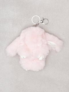 NLY Accessories Fluffy Bunny Keyring Nyckelringar Ljus Rosa