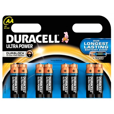 Duracell AA Duralock Ultra 8 kpl