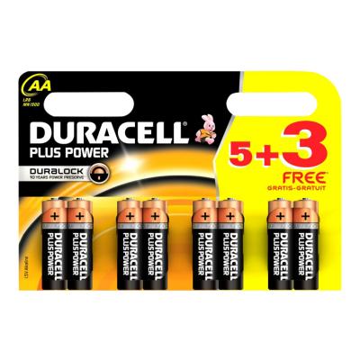 Duracell Plus Power MN1500 Alkaline AA 8 stk