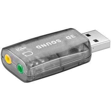 USB-lydkort - A stik > 2 x 3,5 mm