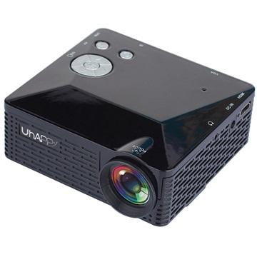 Uhappy U18 Mini LED Projektor - iOS, Android - Sort