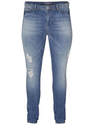 JUNAROSE Destroyed Jeans Women Blue