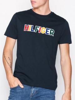 Tommy Hilfiger Tommy Graphic Tee T-skjorter og singleter Sky Captain