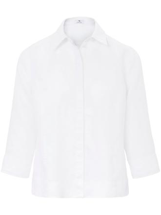 Blus i 100% linne 3/4-lång ärm från Peter Hahn vit