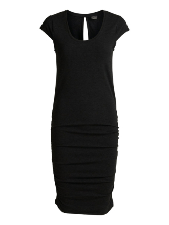 Y.A.S Jersey Capsleeve Mini Dress Women Black