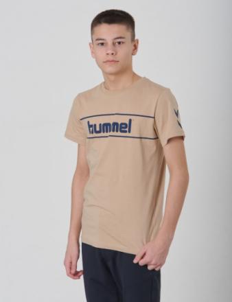 Hummel, JAKI T-SHIRT S/S, Beige, T-shirt/toppe till Dreng, 152 cm - KidsBrandStore