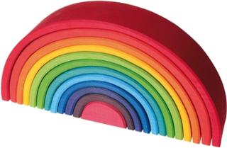 Stor regnbåge av trä - klara färger (12 delar, Grimms)