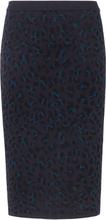 Stickad kjol från mayfair by Peter Hahn blå