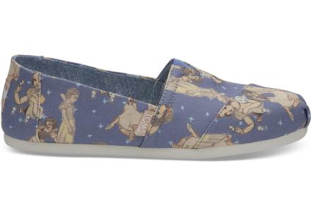 TOMS Schuhe Disney X Blau Snow Weiß Classics Für Damen - Größe 36