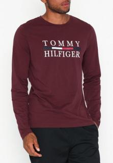 Tommy Hilfiger Tommy Hilfiger Long Sleeve Tee Gensere Tawny Port