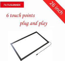 best cheap 9bb54 b972d 26 inch IR touchscreen multi touch overlay frame kit touch screen frame  overlay 6 points multi