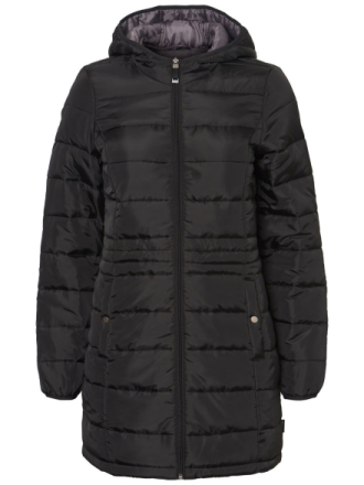 VERO MODA Long Puffer Jacket Women Black
