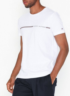 Tommy Hilfiger Tommy Hilfiger Stripe Tee T-skjorter og singleter Bright White