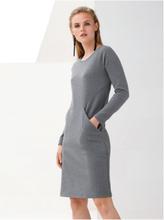 Jerseyklänning lång ärm från MYBC grå