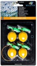 Tafelkleed hangers citroenen 4 stuks plastic