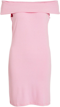 VILA Off-shoulder Dress Women Pink
