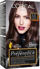 Récital Préference Premium Fade-Defying Colour 5,21 Light Br, L'Oréal Paris Färg