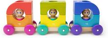 Tegu tåg med figurer (12 delar)